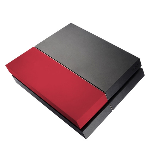 Festplattenabdeckung HDD Cover für PS4 Soft Touch (rot)