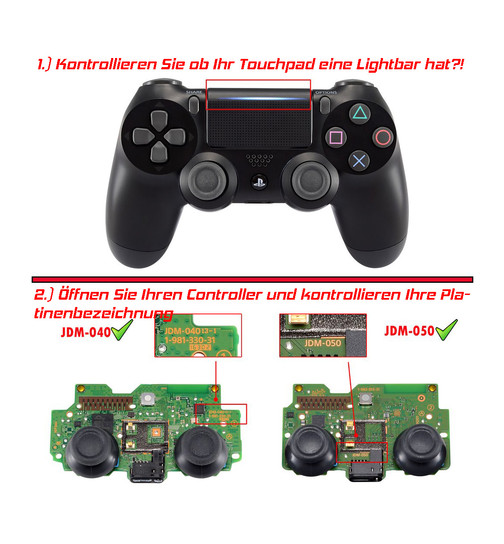 Military Grip Rückseite kompatibel zu Playstation 4 | PS4 Controller V2 (Pro & Slim | JDM 040/050/055 ) (grün)