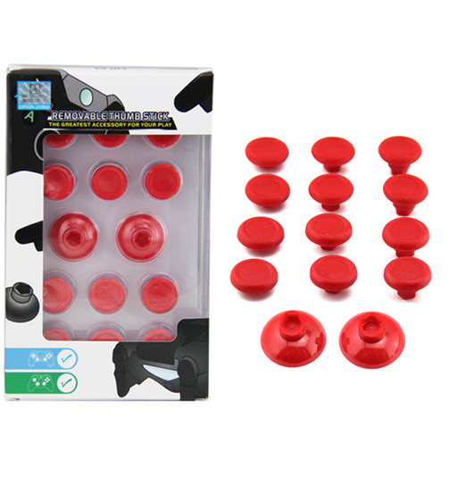 PS4 / Xbox One Thumbstick Kit Set 14 in 1 - rot